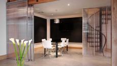 panneaux mobiles coulissants en verre intérieur maison moderne