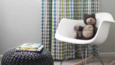 décoration chambre enfant pouf rond