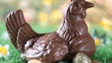poule classique en chocolat