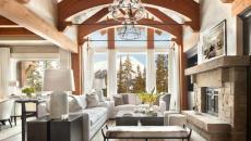 résidence luxe secondaire rustique séjour