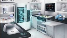 design futuriste cuisine multifonctionnelle hi-tech