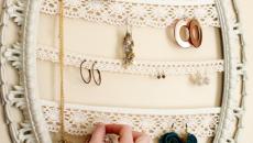 boucles d'oreilles cadre rangement bijoux accessoires