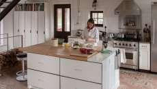 cuisine moderne loft casiers vestiaires industriels