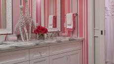 papiers peints intissés salle de bain moderne