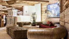 intérieur chic élégant rustique hôtel de vacances montagne