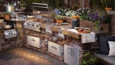 barbecue en famille en plein air