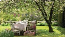 maison secondaire jardin organiser fête repas extérieurs