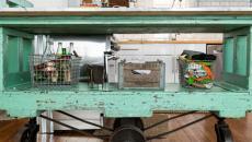 cuisine au mobilier industriel