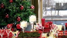 jolie décoration de table de Noël