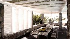 pergola terrasse ombragée hotel boutique mykonos