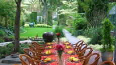 repas plein air outdoor maison moderne