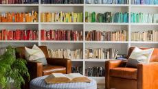 intérieur décoration couleurs pouf rond créatif