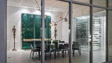 salle à manger façade maison vitrée