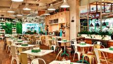 Cafétéria à la décoration rustique