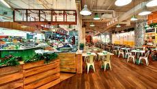 Grande et spacieuse cafétéria libre-service