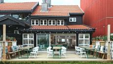 terrasse du restaurant espagnole Vino Veristas Oslo