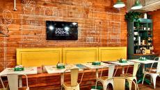 Salle de tables cafétéria russe originale