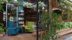café jardin verdure naturel macédoine