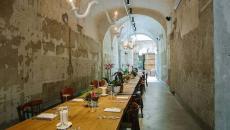intérieur décoration industrielle restaurant moderne