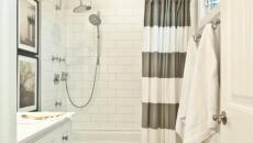 petite salle de bain rideau chic