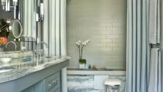 rideaux doubles baignoire salle de bains