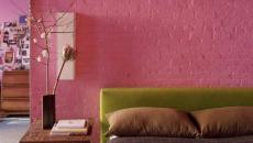 design rose pour chambre à coucher moderne