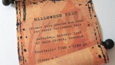 Invitation fairepart pour party d'Halloween fête