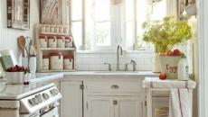 design rétro rustique petite cuisine compacte