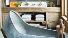 Design original et rustre salle de bains