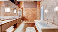 Grande salle de bains design industriel