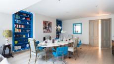 chaises dépareillées turquoise design