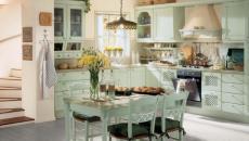 salle à manger cuisine rustique vintage campanardes