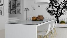 salle à manger blanc et noir design