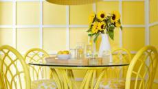 décoration en jaune salle à manger