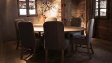 salle à manger suite chalet de luxe rustique