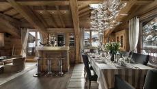 pièce principale chalet alpin intérieur rustique prestige