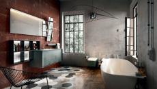 ameublement industriel salle de bain tendance