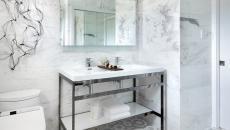 marbre blanc pour salle de bain design