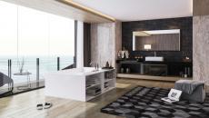 splendide vue salle de bain design unique