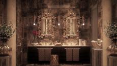 decor feerique salle de bain lumiere