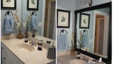 miroir cadre ambiance classe salle de bains