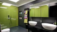 design moderne vert salle de bain