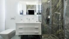 salle de bain design marbre