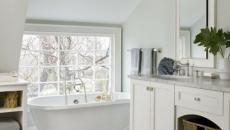 minimalisme blanc salle de bains