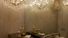 Béton brut et ciré salle de bains luxe