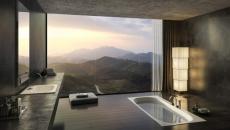 sublime vue salle de bain de luxe design