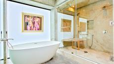 salle de bain design luxe villa de vacances malibu