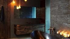 lumières tamisées salle de bain intime