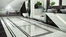 design marbre blanc salle de bain de luxe
