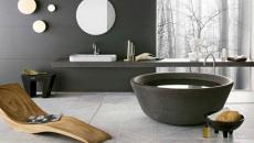 salle de bain gris tendance granite